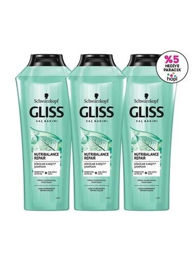Gliss Gliss Nutribalance Repair Saç Dökülmesi Karşıtı Şampuan 360 Ml 3'Lü Renksiz